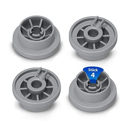 Juego de 4 ruedas de repuesto para cesta de lavavajillas Bosch, Siemens, Constructa Neff 00165314 y 165314