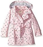 Jessica Simpson Girls' Little Pretty Trench Coat, Pink mesa/Black Dot, 5/6