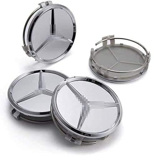 4Pcs Tapas De Cubo De Centro De Rueda para Mercedes-Benz 60mm, Coche Logo Emblem Wheel Center Rim Hub Caps Pegatinas Compatible