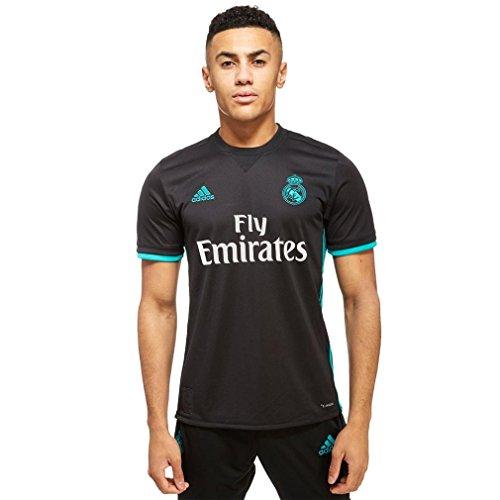 adidas Real Madrid Camiseta Temporada 2017/2018, Hombre, Negro, XL