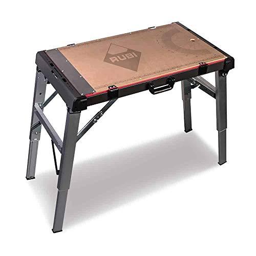 Rubi 66924 - Klappbare Werkbank 4 in 1 / 115x52x80cm // 80x52x12,5cm. gefaltet