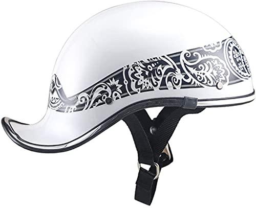 Motocicleta Motocicleta Motocicleta Medio Casco Casco abierto Casco abierto con la cara abierta para Scooter Chopper Roller Skateboard Biker Unisex Baseball Gorra Anti-Collision Heel Hat-Aprobado por