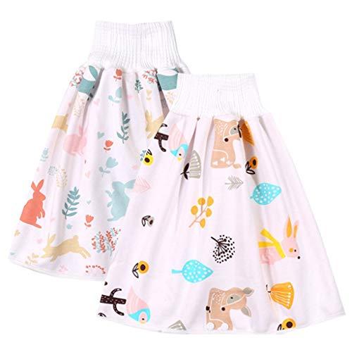Culotte d'apprentissage réutilisable 2 en 1 confortable et imperméable taille haute pour bébé - - M