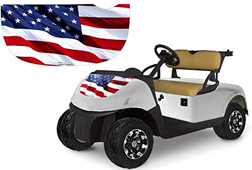 AMR Racing Golf Cart Hood Graphics kit Sticker Decal Compatible with E-Z-GO RXV 2015-2018 - Stars and Stripes