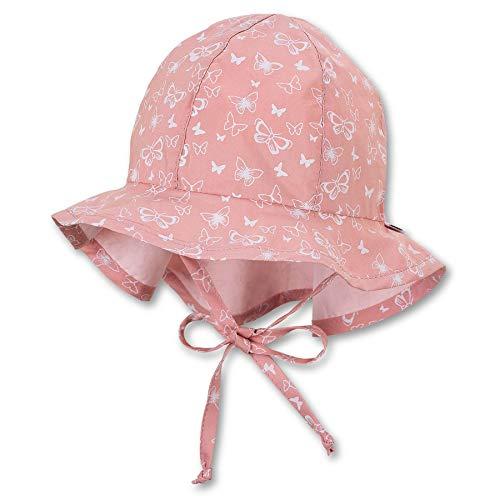 Sterntaler Mädchen Schirmmütze mit Nackenschutz Hut, hellrot, 55