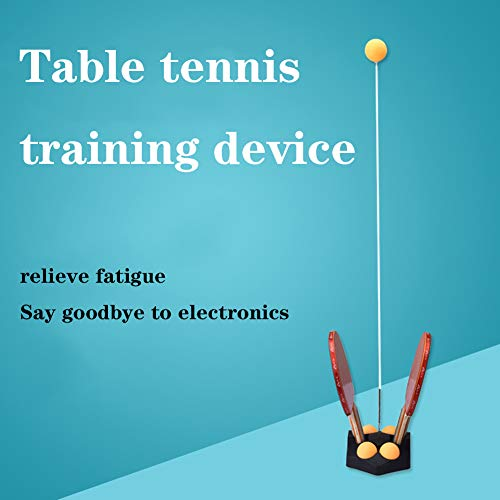 Buy Bargain XUE Upgrade Table Tennis Trainer with Sucker, Ping-Pong Paddle Tennis Training Equipment...