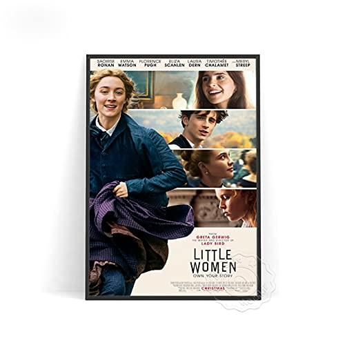 shuimanjinshan Amor película Mujeres pequeñas imágenes fijas Cartel de Propaganda Arte de la Pared decoración Pintura Cartel protagonizado por Silsa Ronan Cuadros de Pared(PW-2960) 50x70cm Sin Marco