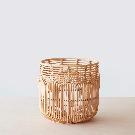 Mid-Century Rattan Storage Baskets   Light Rattan Baskets – The Citizenry