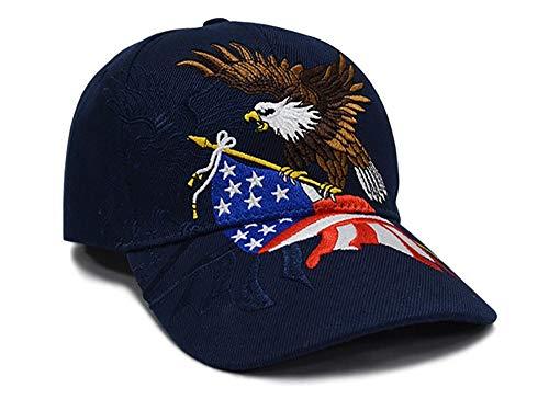 eBoutik – 2020 KEEP AMERICA Great Cap – MAGA MAKE AMERICA Great Again USA Cap – President TruMP HAT FANCY DRESS Gr. Einheitsgröße, Kappe mit aufgesticktem Bald Eagle Usa Flagge, Dunkelblau