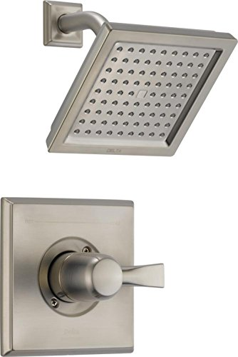 Dryden 14 Series Single-Function Shower Trim Kit with Single-Spray Touch-Clean Shower Head, Stainless  (Valve Not Included) - Delta T14251-SS