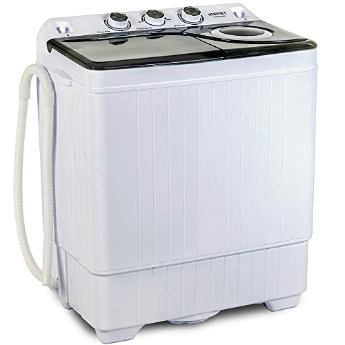 KUPPET Compact Twin Tub Portable Mini Washing Machine 26lbs Capacity,...