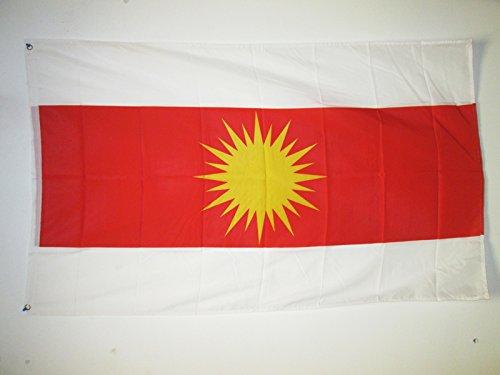 AZ FLAG Flagge JESIDEN YAZIDISM NEU 150x90cm - YEZIDEN KURDISCH EZIDEN Fahne 90 x 150 cm - flaggen Top Qualität