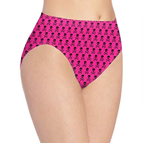 XCNGG Höschen Damenunterwäsche 3D Print Soft Women's Underwear, Skull Bones Fashion Flirty Lady's Panties Briefs