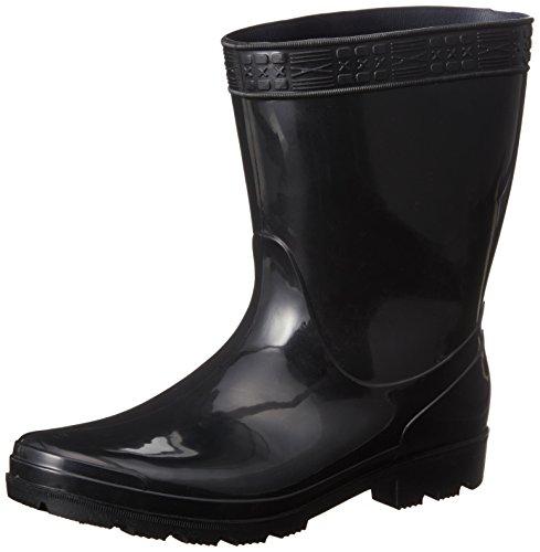 [ヘイギ] 長靴 レインブーツ PVC 紳士短半長靴 HG-1 メンズ ブラック 25 cm