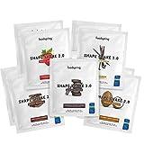 foodspring Shape Shake 2.0, Mix de sabores, 10 x 60g, Sustitutivo de comidas para controlar el peso, Alto en proteínas y fibras