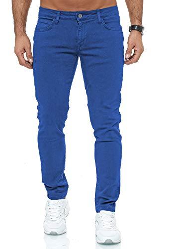 Redbridge Vaqueros Hombres Pantalones Denim Colored Slim Fit Azul W36 L34