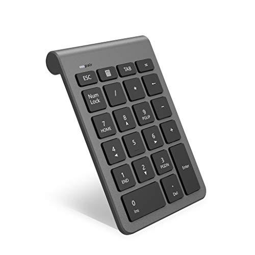 Teclado numérico inalámbrico Bluetooth, Teclado numérico 22 Teclas Bluetooth Extensiones de tecladopara Data Entry de Contabilidad financierapara Laptop, Escritorio, PC, Notebook