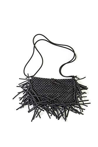 CANOA Boracha - Bolso de mano para mujer (100% material reciclado, 28 x 35 x 4 cm), color negro
