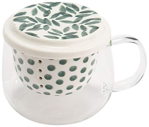 Coffret mug en verre avec filtre Eucalyptus