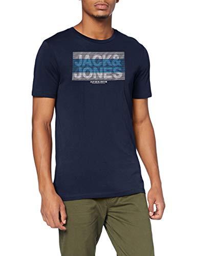 Jack & Jones JCOJUMBO Tee SS Crew Neck FST T-Shirt, Blazer Bleu Marine, L Homme