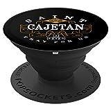 Katholische Gamer-Geschenke St. Cajetan für die katholischen - PopSockets Ausziehbarer Sockel und Griff für Smartphones und Tablets
