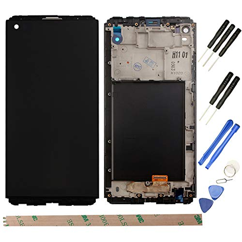 YHX-US Replacement for LG V20 LCD H990 F800L H910 H915 LS997 LCD Display Screen Touch Digitizer with A Set of Tools(Black)