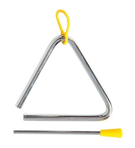 Wicemoon Instrumentos Musicales para niños, Instrumentos Musicales de percusión, triángulo Musical, triángulo de percusión, triángulo Musical