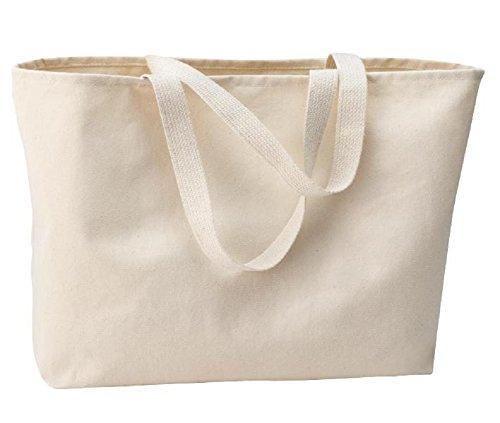 Fancy Twill Baumwolltasche Jumbo Größe für Einkaufen, Reisen, Textil, natur, L