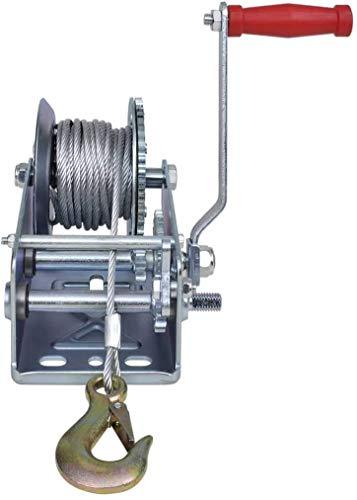 Manuelle Seilwinde zur Verwendung in LKWs, Anhängern oder anderen mobilen Anwendungen, 2 Wege/2 Geschwindigkeiten, 1134 kg / 2500 kg mit 10 m Kabel