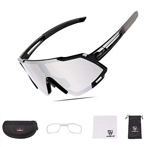 SLRMKK Fahrradbrille mit polarisierter Vollbeschichtungslinse/photochrome UV400-Sonnenbrille für Rennradrennen, Rennen, Wandern, Sport,brillenbrillen
