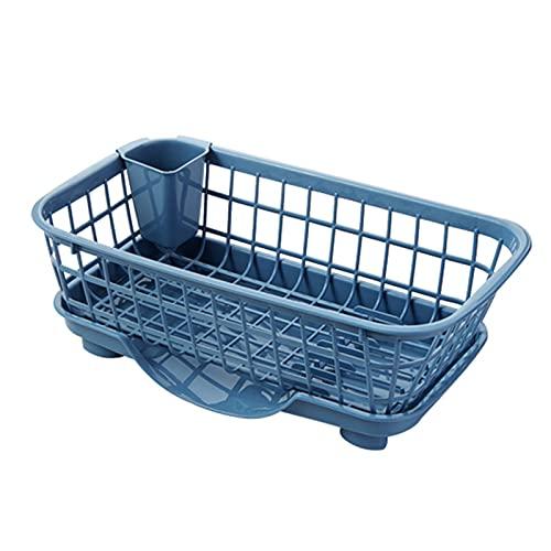 Cocina plato drenaje rack drenaje cesta lavado verduras fruta multifuncional plástico secado estante cocina almacenamiento cesta (Color : As shown, Number of Tiers : As shown)