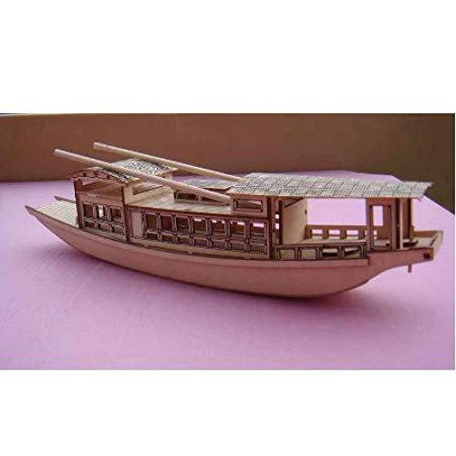 ZKRZ Modelo De Barco De Recreo Jiangnan Clásico Chino Escala 1/50 Kit De Modelo De Barco South Lake