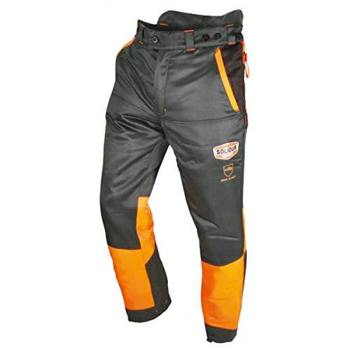 AMA Pantalón anticorte talla gris/naranja. L