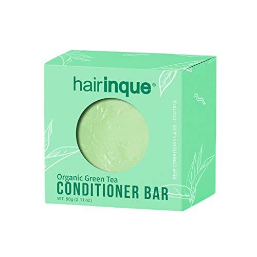 Allouli Green Tea Fragrance Hair Conditioner Handmade Soap Shampoo Bar Moisturizing Nourishing Hair Care