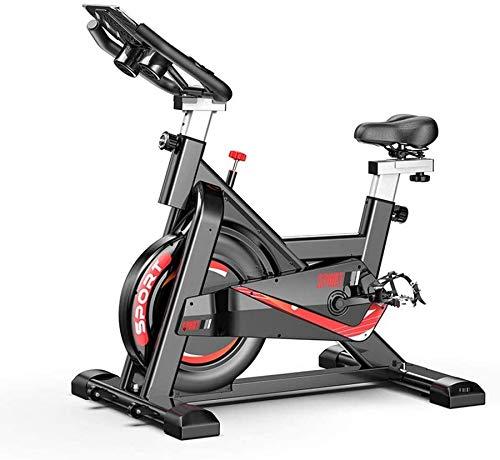 Wghz Bicicleta estática Bicicleta de Ciclismo para Interiores - Bicicleta giratoria Ajustable con Soporte - Accionamiento silencioso por Correa Cómodo cojín de Asiento - para Entrenamiento de Car