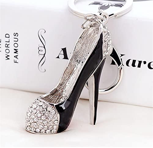 WOJING Zapato Metal Llavero Moda Cristal De Moda Simulación Personalizada Ballet Zapatos Metal Llavero Lindo Regalo Llavero (Color : 1, Size : K)