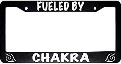 ReplaceMyParts Fueled by Chakra Ninja Black Car Auto License Plate Tag Frame Holder (2 Holes US Standard)