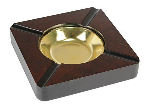 Quality Importers Trading Four Cigar Wooden Ashtray (CA-4SQ)