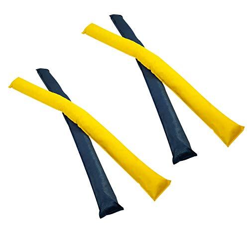 AMF Life Longier-Hilfe für Pferde, blau & gelb, 4 STK, 1,8m lang, Pferdeausbildung, Richtläufer, Bodenarbeitshindernis, Hindernis-Stangen
