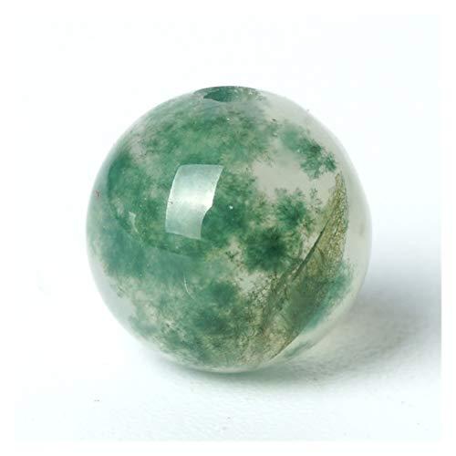 JINGGEGE Natürliches Edelstein-Korn-weiße Pflanze Achat-Edelstein-rundes Loses Korn-6/8 / 10mm Phytolite Onyx Stein Rosenkranz (Size : 6mm 63pcs Beads)