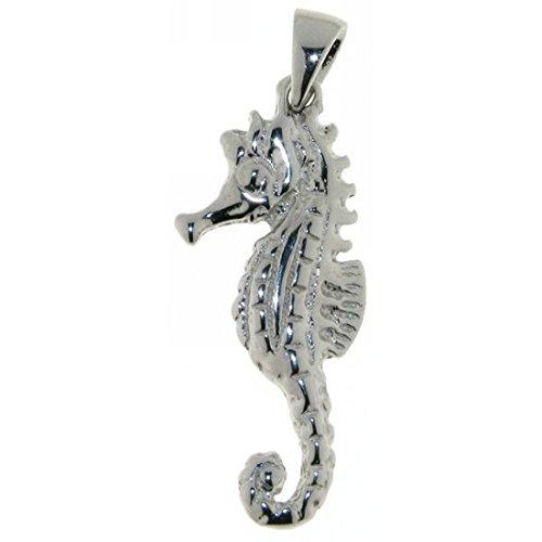 Derby Anhänger Seepferd Seepferdchen massiv echt Silber 23145