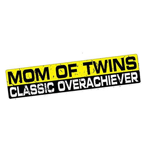 DSRLO Autocollant de Voiture 15Cm X 3Cm Mom of Twins Achiever Sticker Decal Funny Bumper Kids Car Truck Tailgater Waterproof Car Stickers