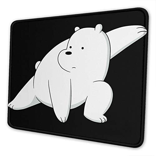 We Bare Bears Ice Bear Gaming Mouse Pad with Stitched Edges Waterproof Non-Slip Mouse Pad for Laptop, Office and Home 7 X 8.6 in