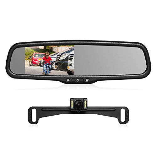 AUTO-VOX T2 Backup Camera Kit,OEM Rear View Mirror Monitor with IP68...
