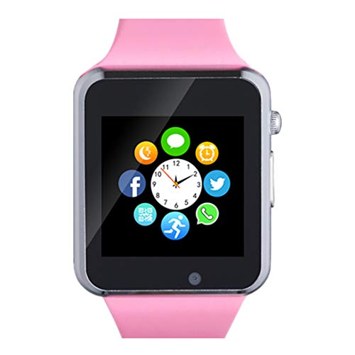 Smart Watch, Bluetooth Smart Watch Phone with SD Card Pedometer Call Text Notification Music Player Camera Compatible for Android SamsungHuawei and iPhone (Partial Functions) for Women Ladies Girls
