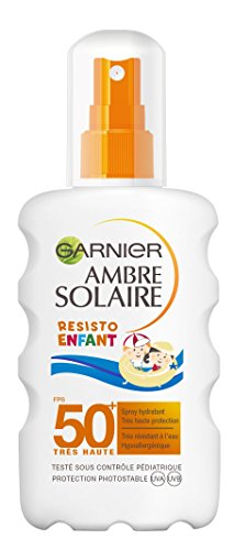 Garnier Ambre Solaire Spray Hydratant Resisto Enfant FPS 50+ pour Peaux Sensibles - 200 ml