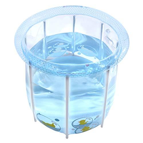 Baignoire Pliante, Seau 82CM * 80CM de Piscine d'intérieur Transparent pour bébé