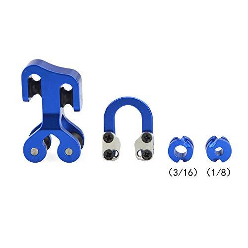 MILAEM Tiro con Arco Cuerda Separador Cable del Rodillo D Loop D Anillo Metal Visor Arco Compuesto Accesorios