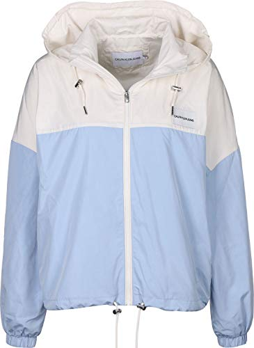 Calvin Klein Jeans Hooded Zip-Up W Coupe-Vent Blue/Egret