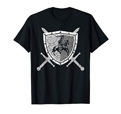 Knight armor with lions on the breastplate Medieval knight T-Shirt